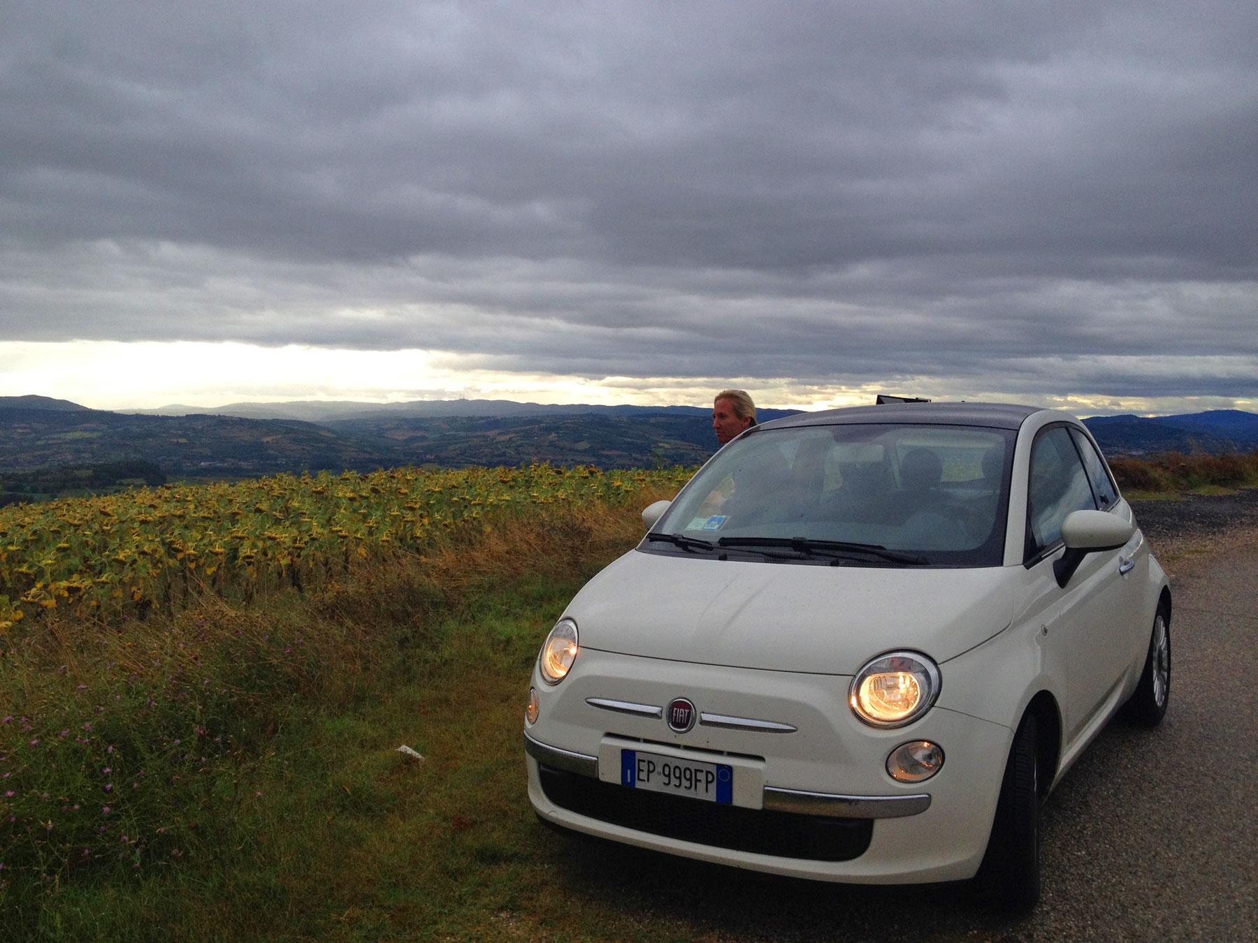 Umbrie met de Fiat Cinquecento