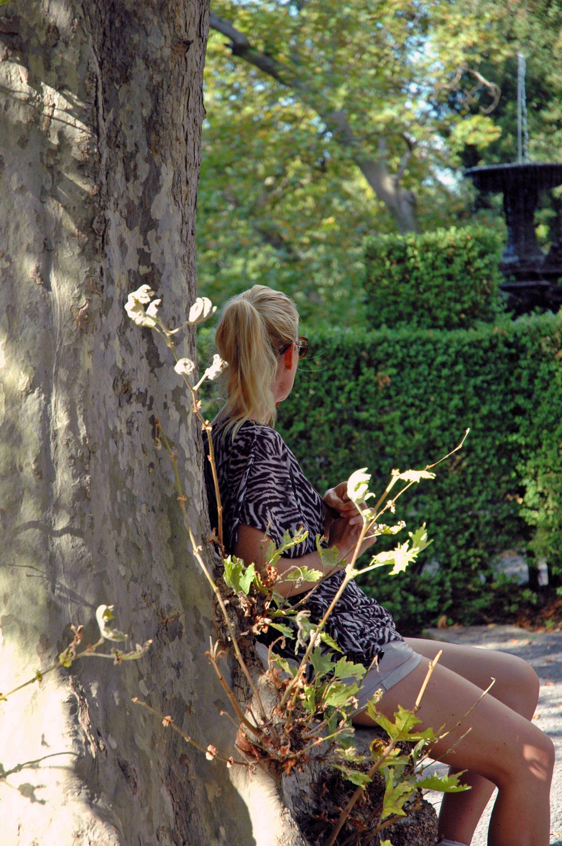Villa Lante - Zitten onder een boom